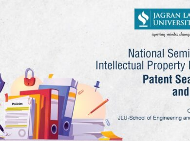 National Seminar On  Intellectual Property Rights: Patent Searching and Filling, Organised By JLU SOET