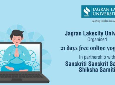 Jagran Lakecity University Organised 21 Days Free Online Yoga Camp